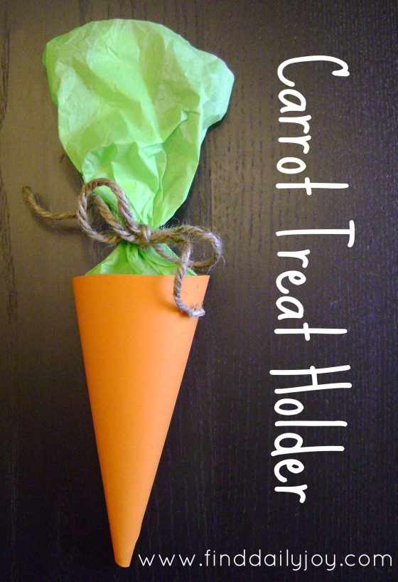 Carrot Treat Holder {Tutorial} - finddailyjoy.com