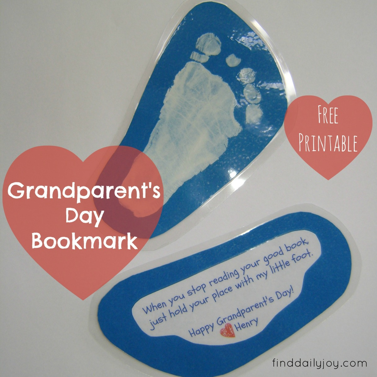 Grandparent's Day Bookmark {Free Printable}