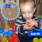 Ball Pit {Playing With Baby, Day 14} - finddailyjoy.com