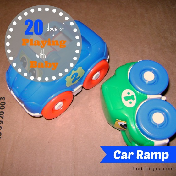 Car Ramp {Playing With Baby, Day 4} - finddailyjoy.com