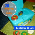 Container Of Lids {Playing With Baby, Day 15} - finddailyjoy.com