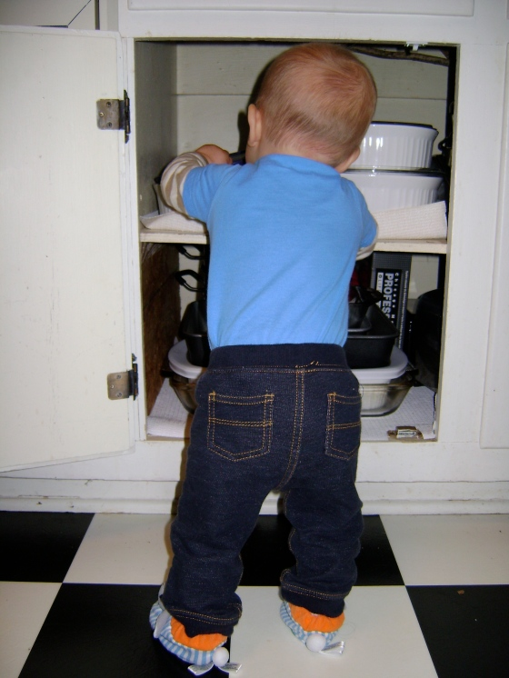 Locking Up The Cabinets - finddailyjoy.com