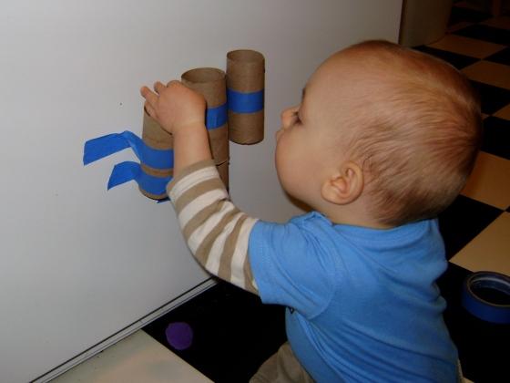 Pom Pom Drop {Playing With Baby, Day 8} - finddailyjoy.com