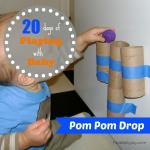 Pom Pom Drop {Playing With Baby, Day 8} - finddailyjoy.com