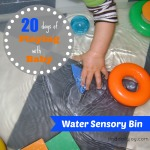 Water Sensory Bin {Playing With Baby, Day 6} - finddailyjoy.com
