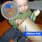 Ribbon Pull {Playing With Baby, Day 20} - finddailyjoy.com
