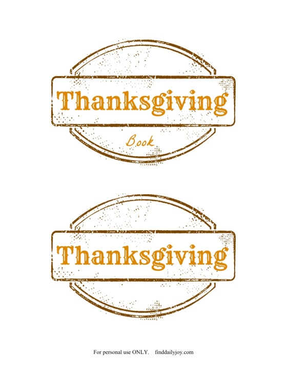 Thanksgiving Book Printable