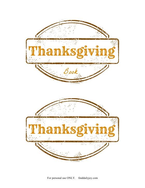 Thanksgiving Book Printable