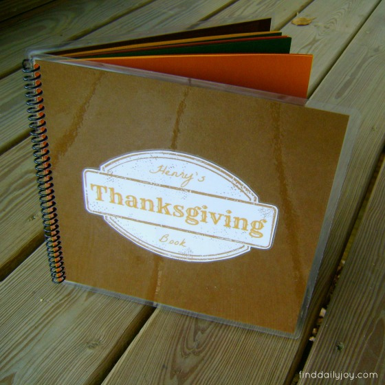 Thanksgiving Keepsake Book - finddailyjoy.com