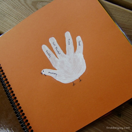 Thanksgiving Keepsake Book - finddailyjoy.com