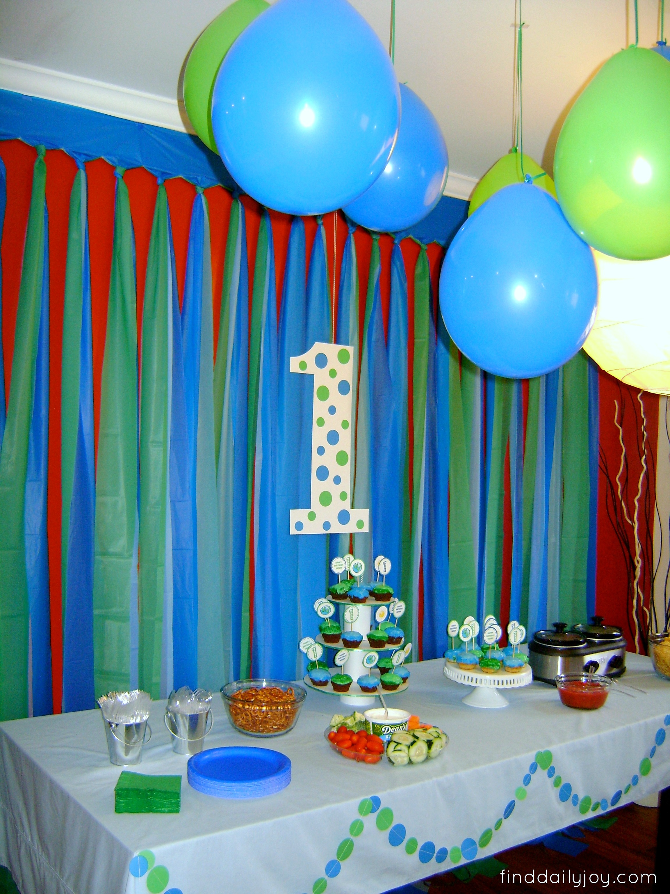 Henry 39 s first trip around the sun birthday party for Room decor ideas for birthday