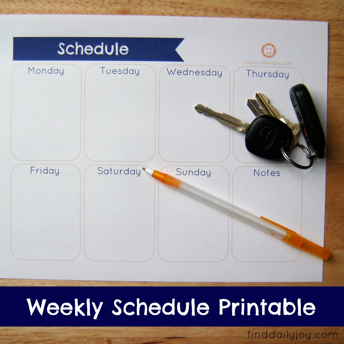 Weekly Schedule {Free Printable}