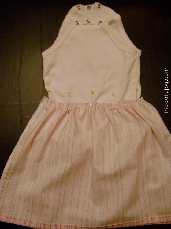 Onesie Dress {Tutorial} - finddailyjoy.com