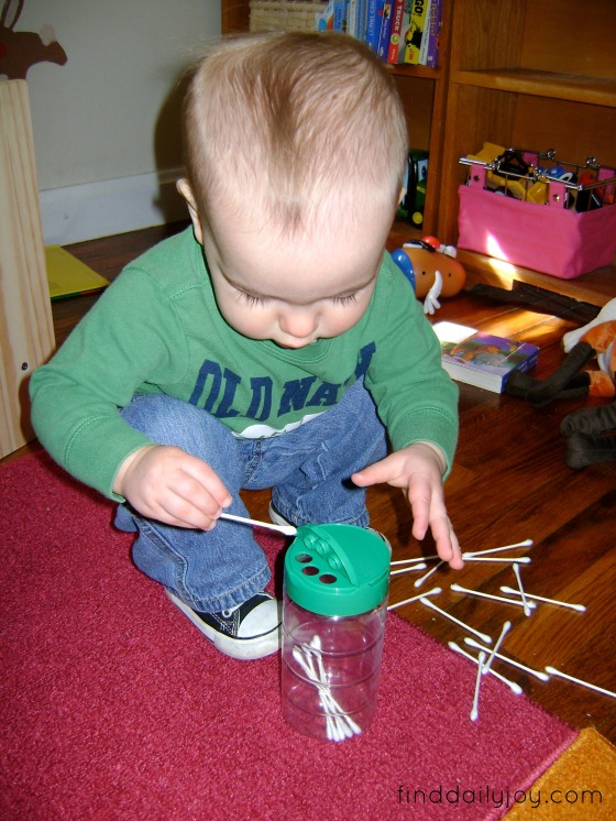 Playing With Baby - QTip Drop - finddailyjoy.com