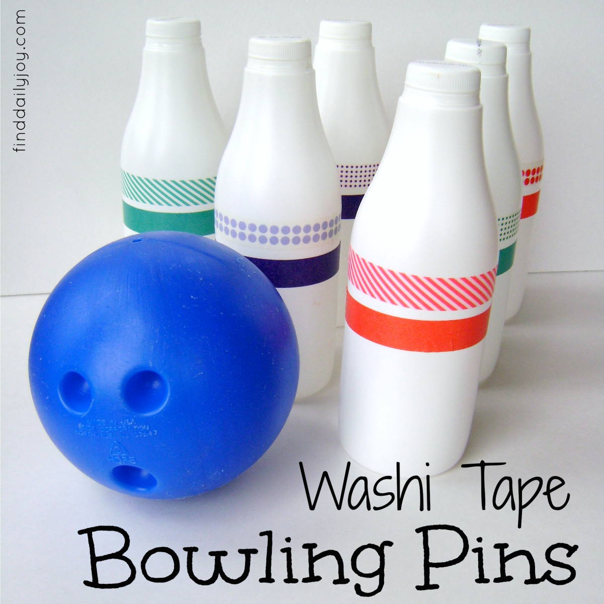 Washi Tape Bowling Pins {Tutorial}