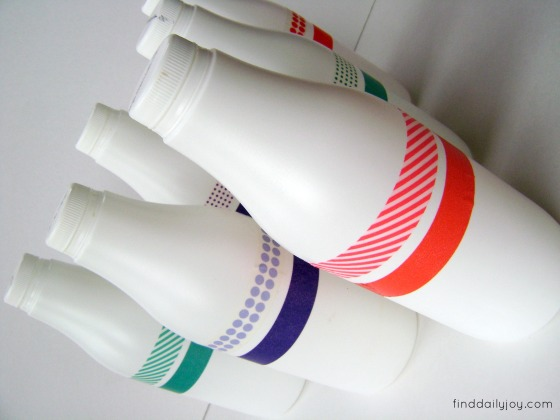 Washi Tape Bowling Pins {Tutorial} - finddailyjoy.com