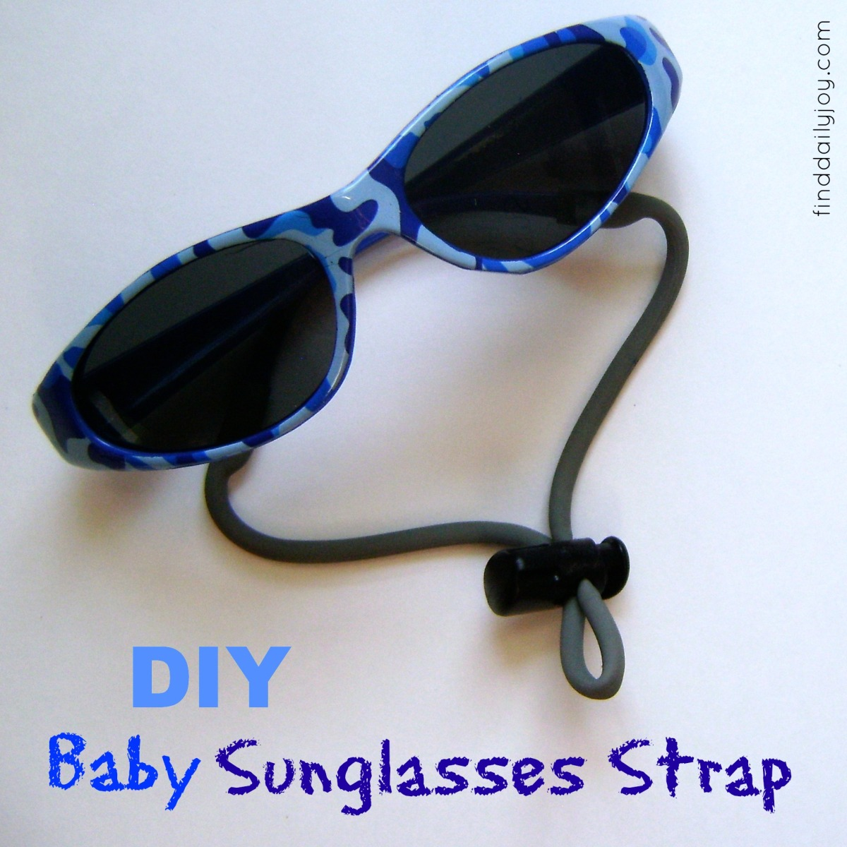 Make Your Own Baby Sunglasses Strap {Tutorial}