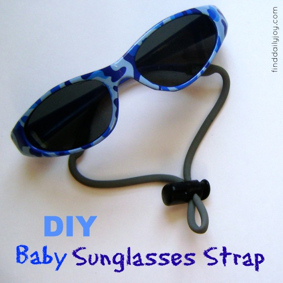 Make Your Own Baby Sunglasses Strap {Tutorial} - finddailyjoy.com