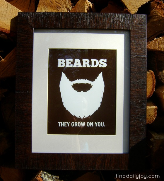 Beard Poster {Free Printable} - finddailyjoy.com