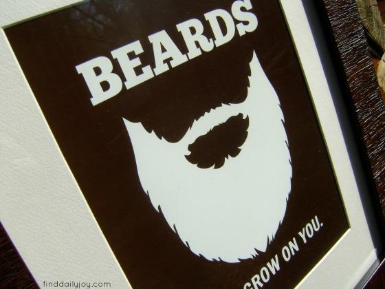 Beard Poster {Free Printable} - finddailyjoy.com