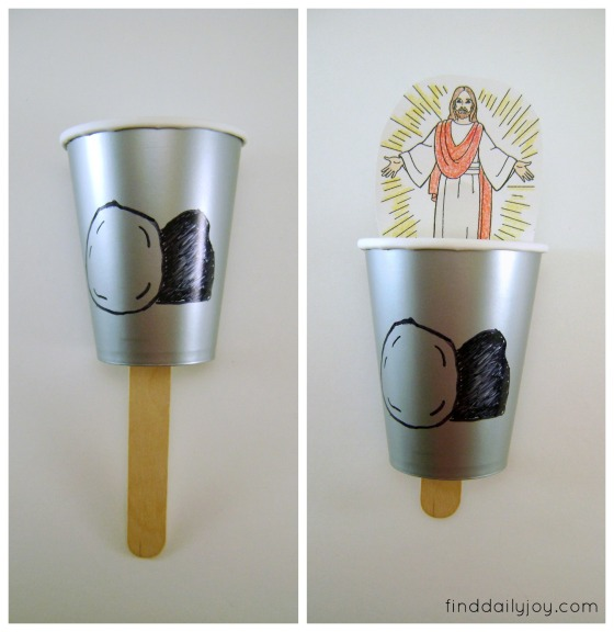 Easter Craft Paper Cup Tomb