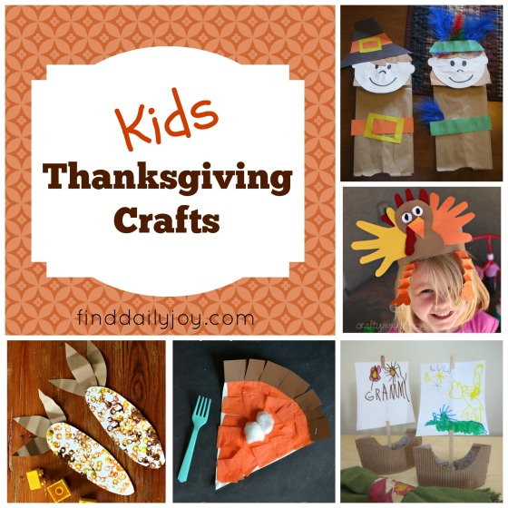 Kids Thanksgiving Crafts - finddailyjoy.com