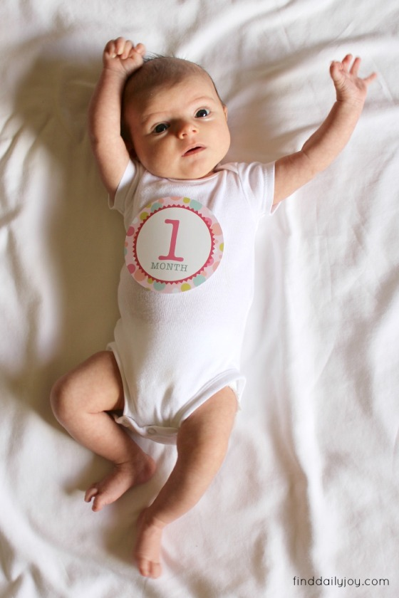 Lily - One Month - finddailyjoy.com